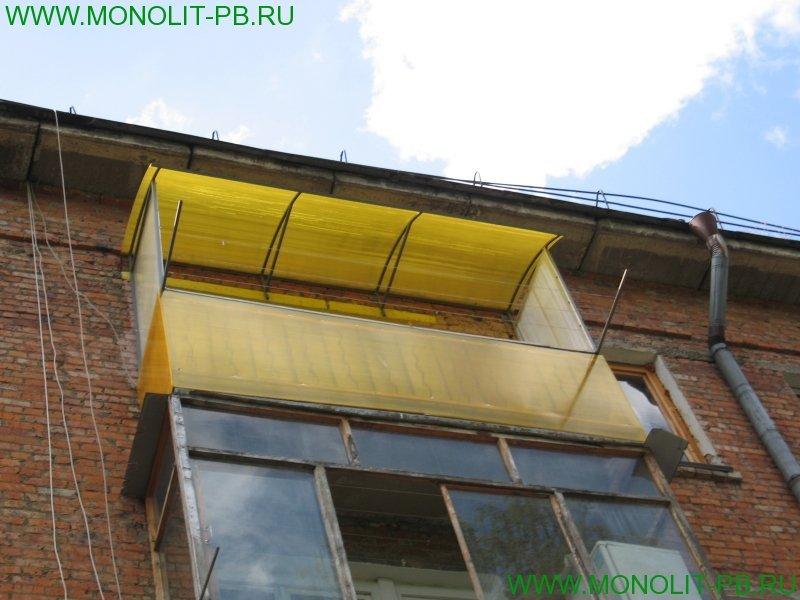 Отделка балкона поликарбонатом своими руками.